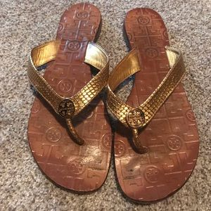 Tory Burch Thora gold sandals